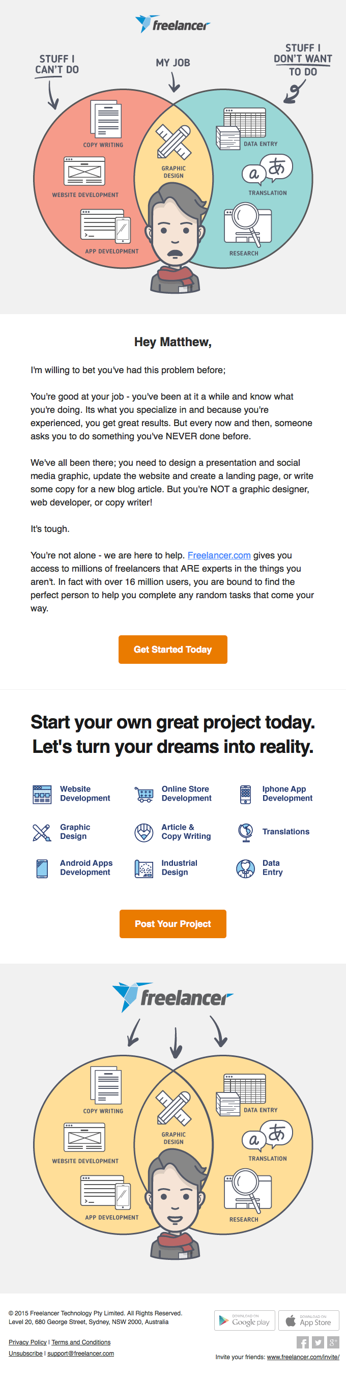 Business email examples-Freelancer