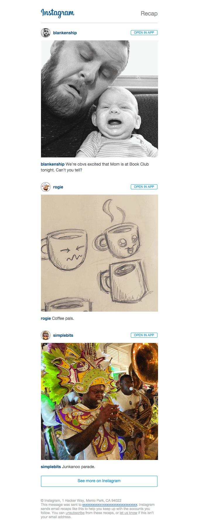 Business email samples-Instagram