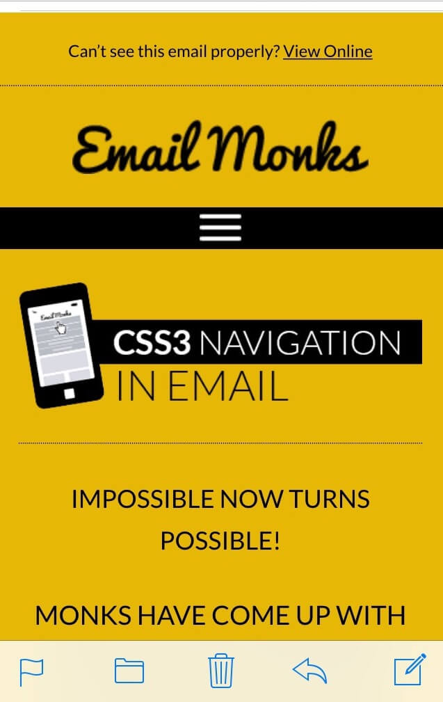 Menu In Email Email Monks