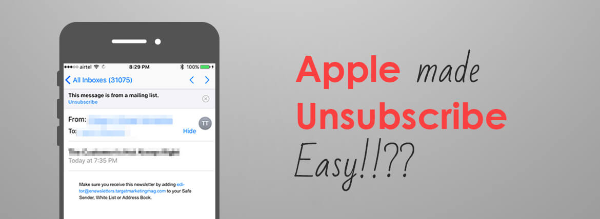 Apple mail Unsubscribe