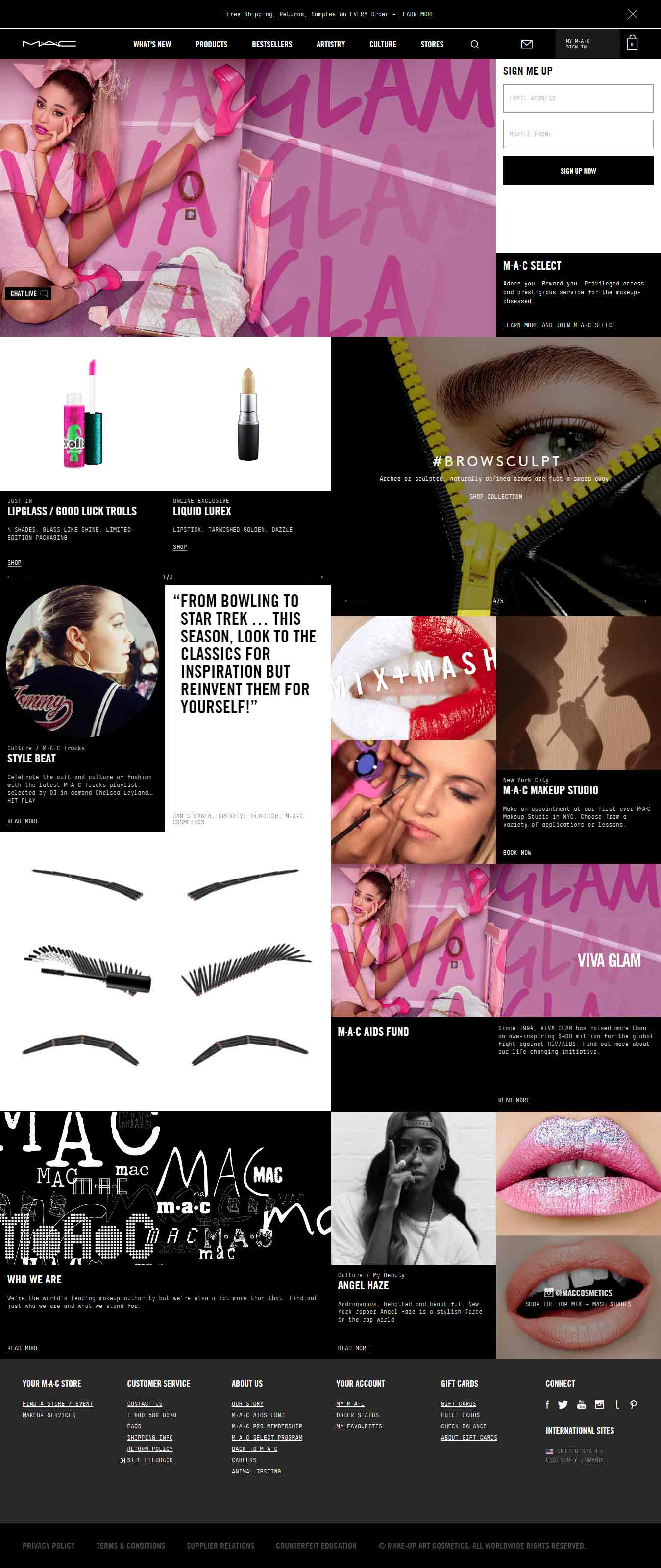 E-COMMERCE-EMAIL-MAC-Cosmetics_Landing-page