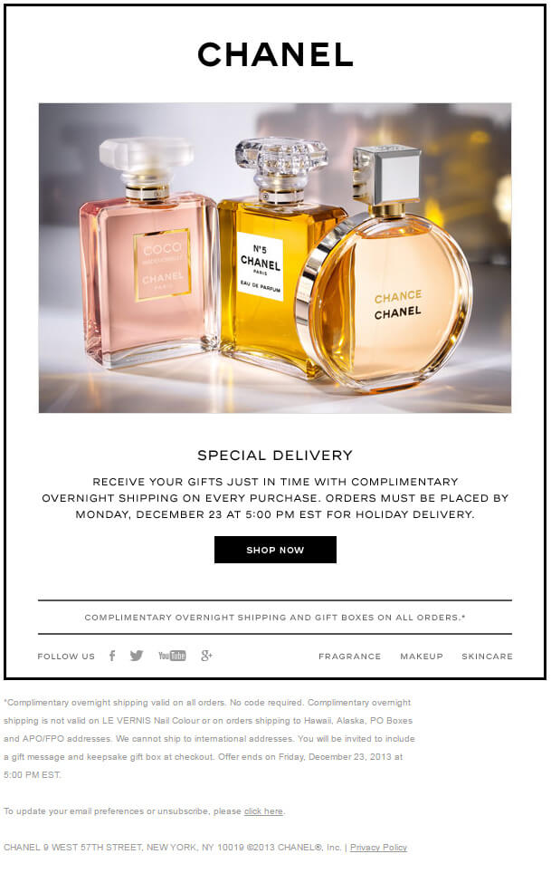 Ecommerce-email-template-and-landing-pages-Chanel_Email
