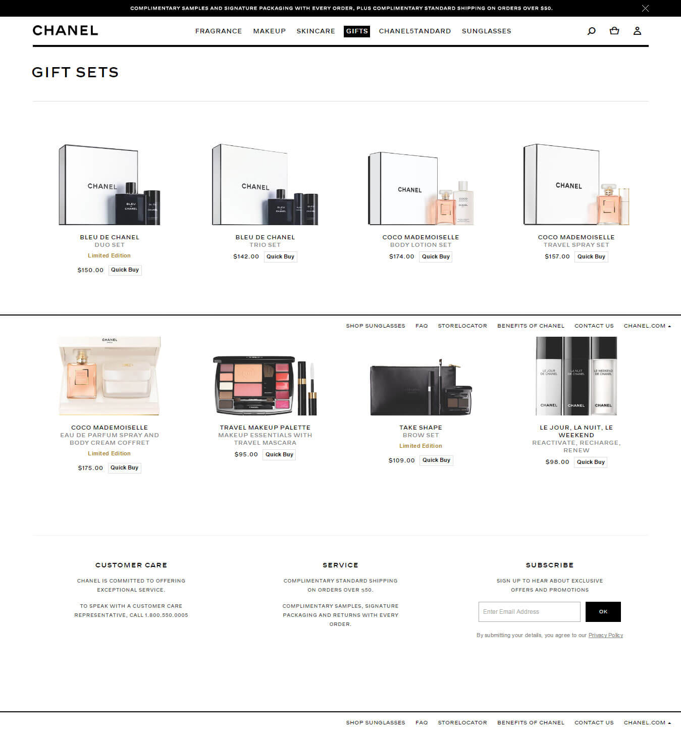 Ecommerce-email-template-and-landing-pages-Chanel_Landing-page