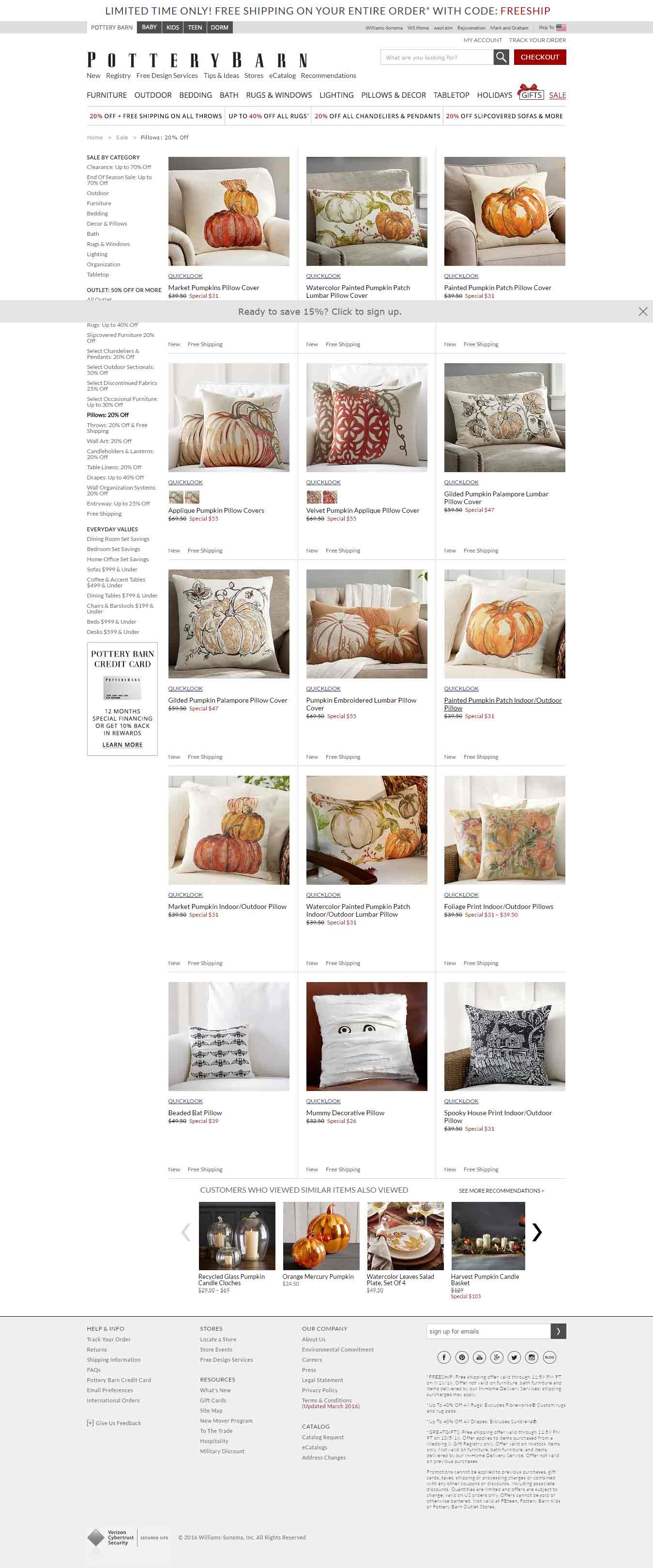 Ecommerce-email-template-and-landing-pages-Pottery-Barn_landing-Page