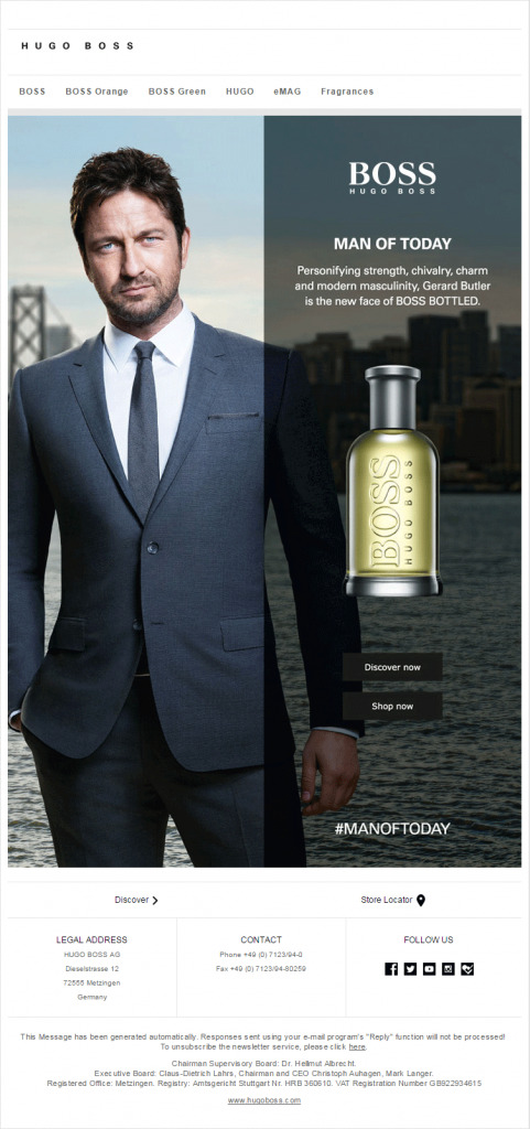 Email marketing campaign- Hugo Boss