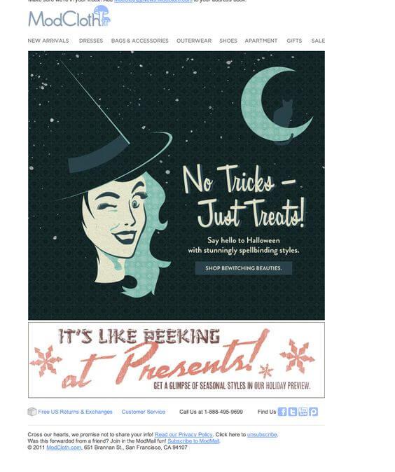 Halloween Email Illustrations
