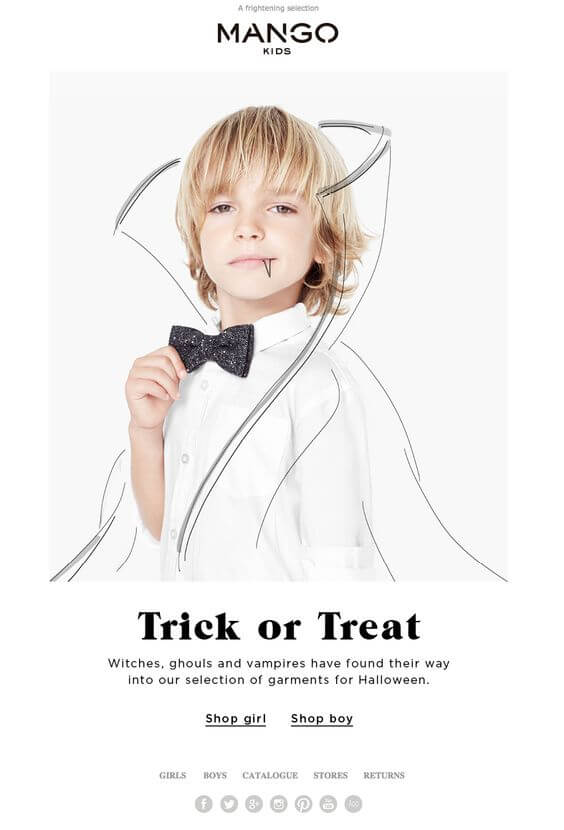 Halloween Email Example