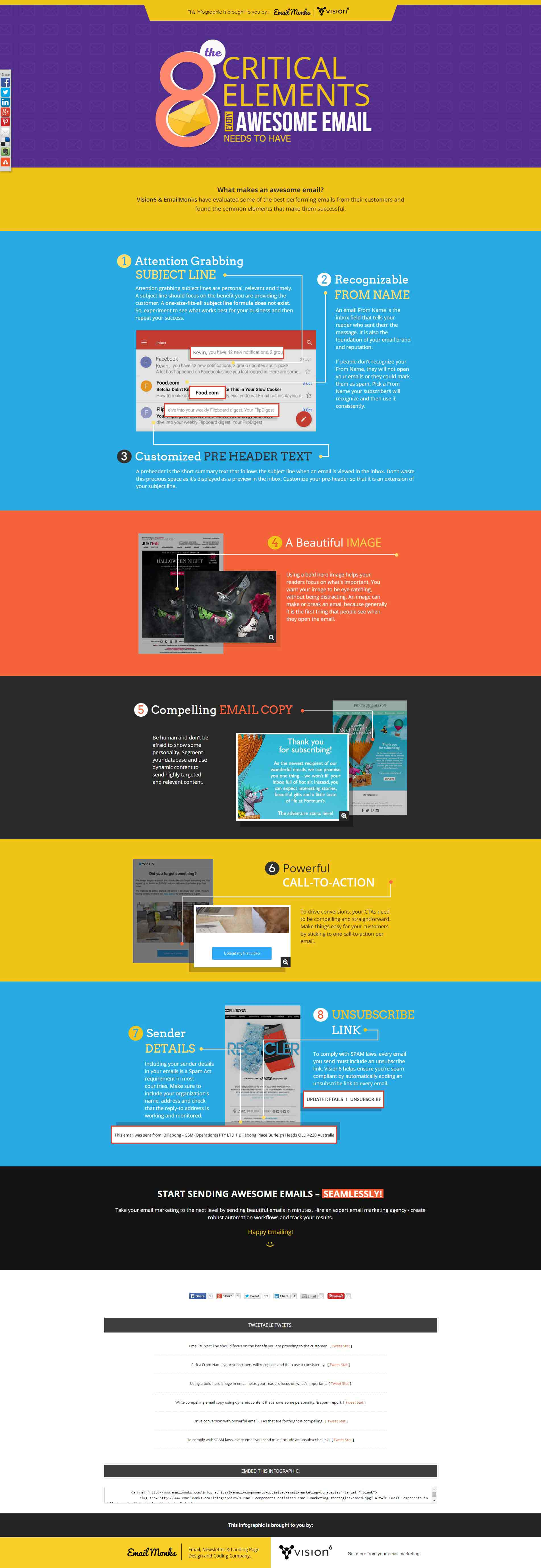 8 critical elements of an awesome email [Infographic]