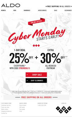quirky black friday email campaign
