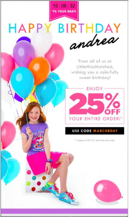 Email Personalization-Little-Miss-Matched