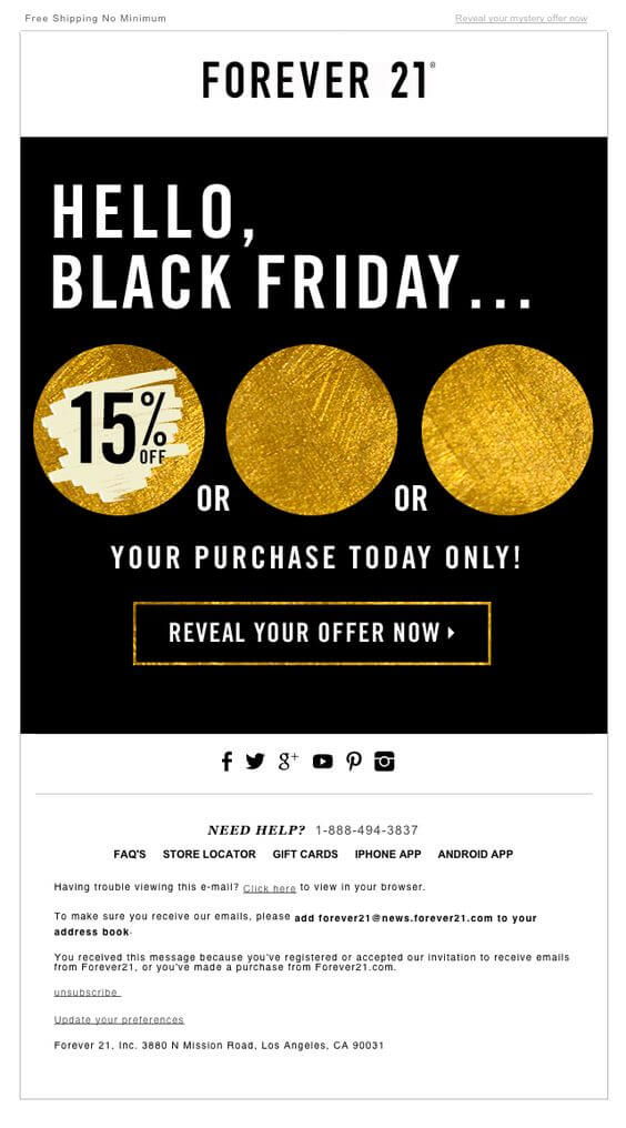 Black Friday  Cyber Monday Email Examples To Boost Sales