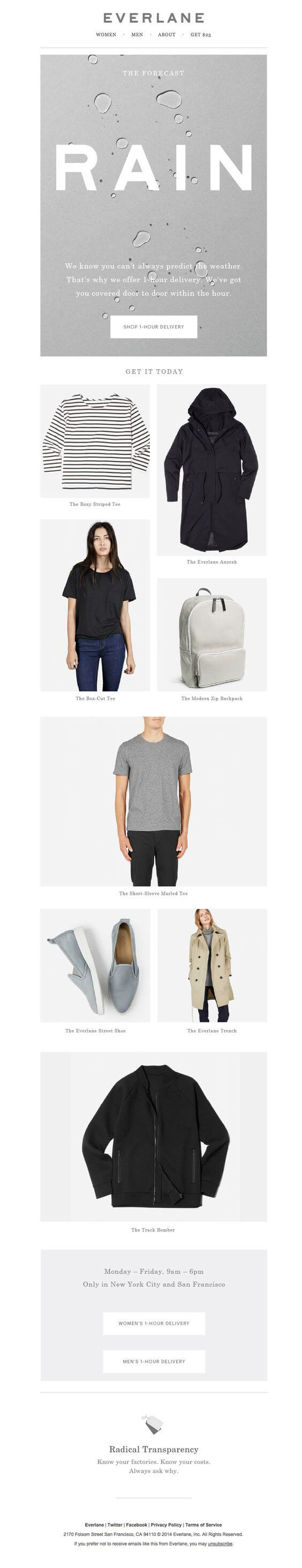 Seasonal Email Templates_Everlane_Monsoon