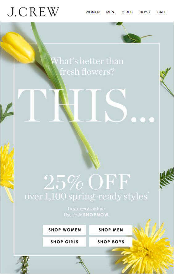 Seasonal Email Templates_J Crew_Spring
