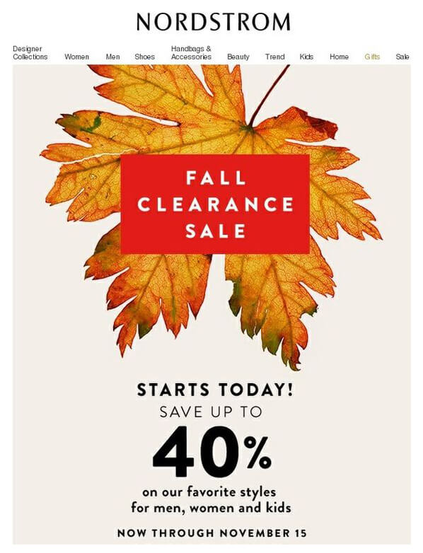 Seasonal Email Templates_Nordstrom_Fall