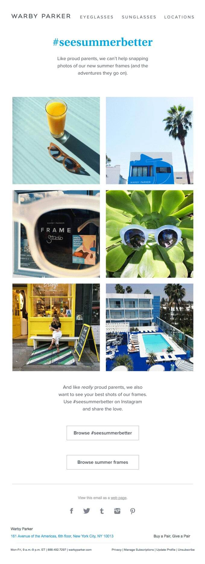 Seasonal Email Templates_Warby-Parker_Summer