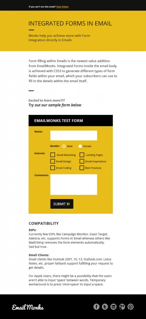 Show & Hide in Email Example
