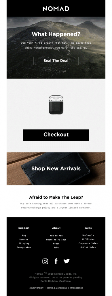 nomad email template