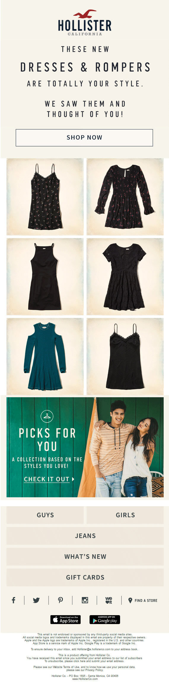 email personalization - hollister