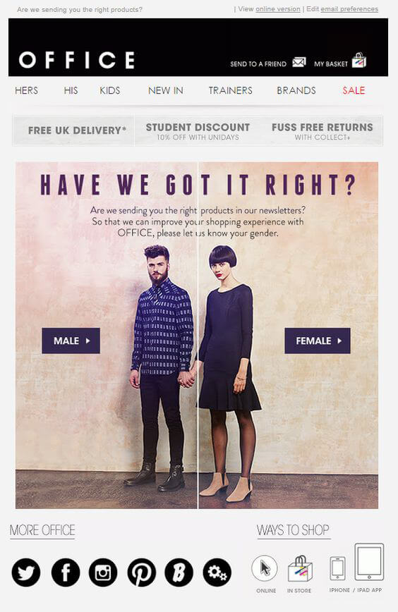 personalized email campaigns - Office
