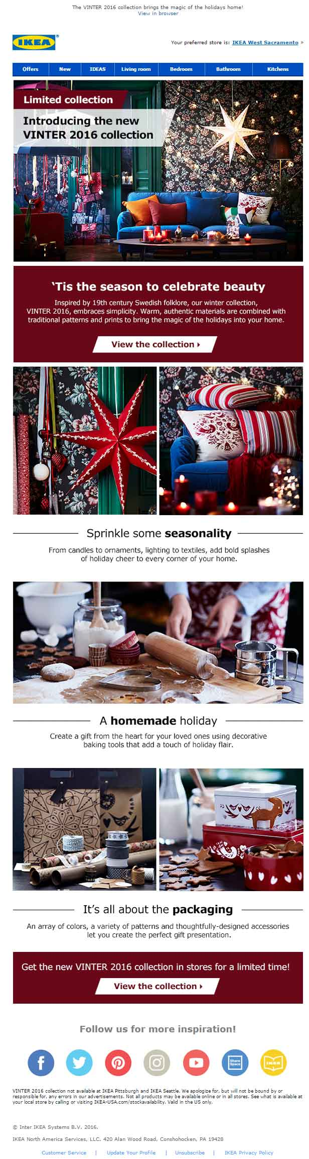 Christmas Email Template Ikea