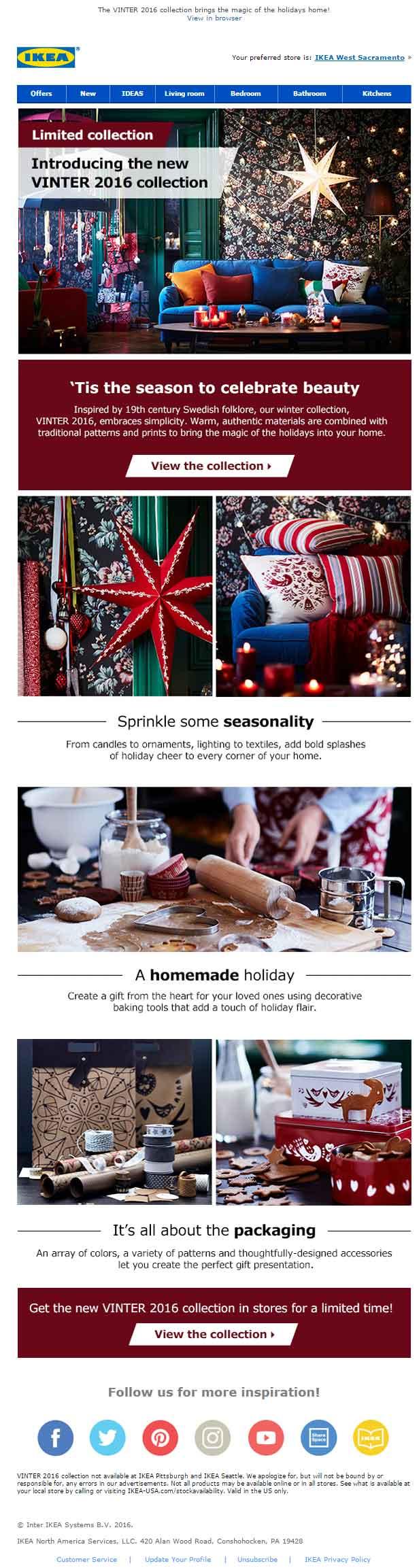 Christmas Email Template Ikea