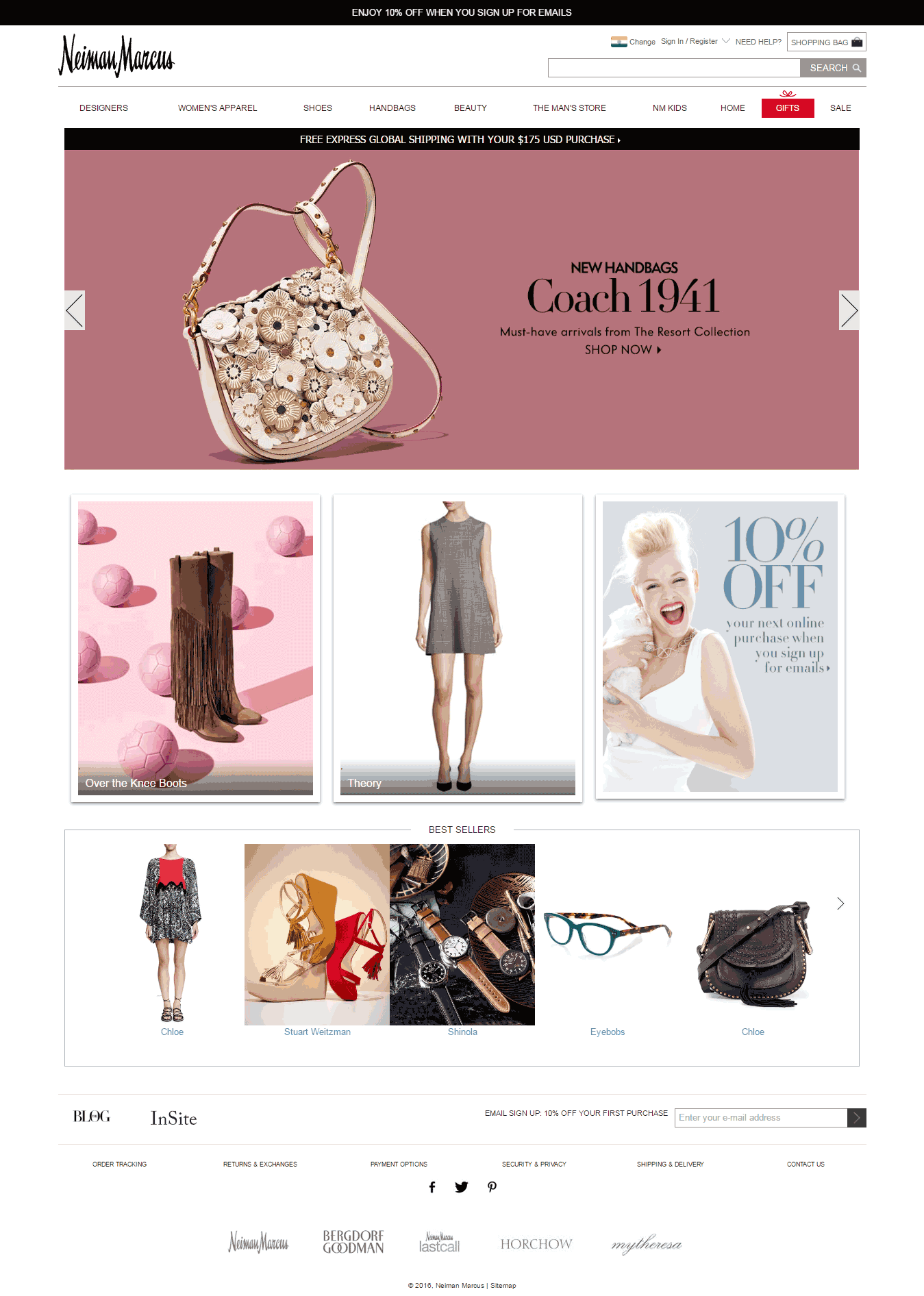 Email Landing Page_Neiman Marcus Website