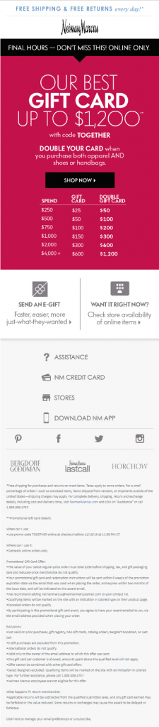 Email Landing Page_Neiman Marcus-gift card