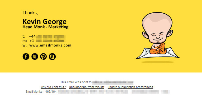 email footer design