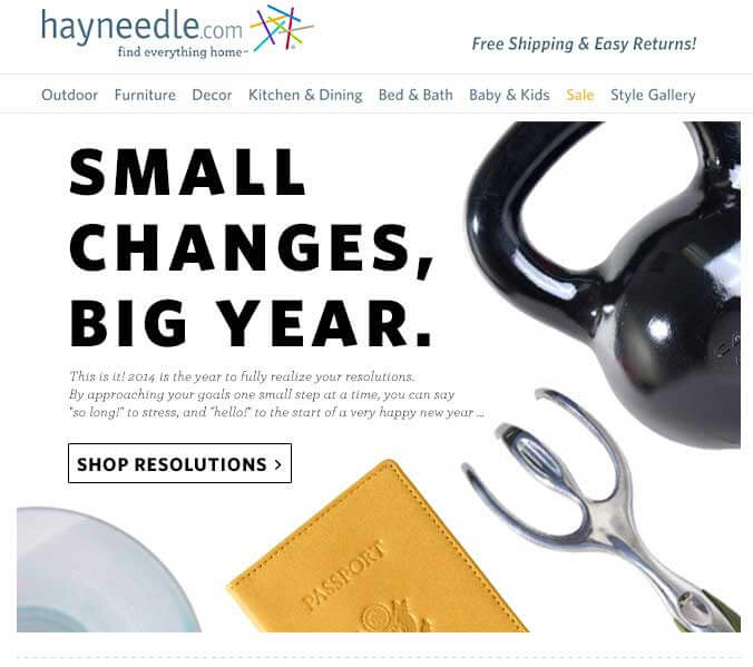 email marketing examples Heyneedle