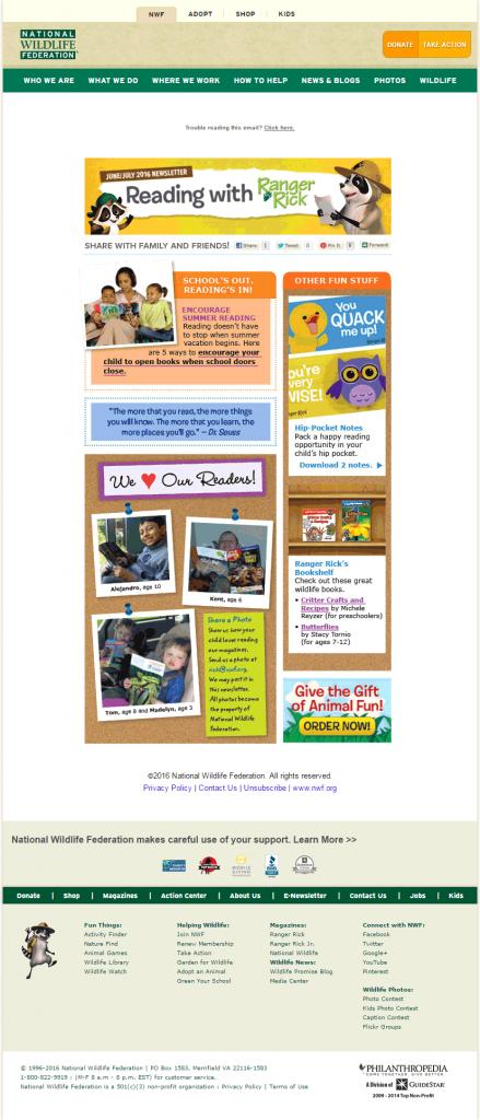 National-Wildlife-Federation_non profit email marketing