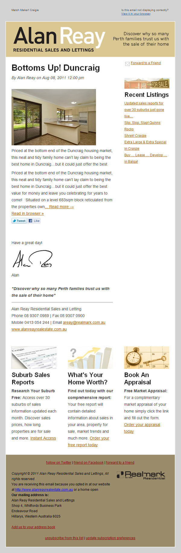 Alan-Reay - real estate email