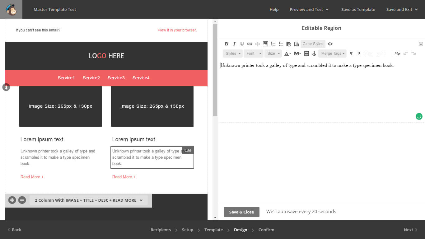 Email HTML Templates Master - Editor Step-6