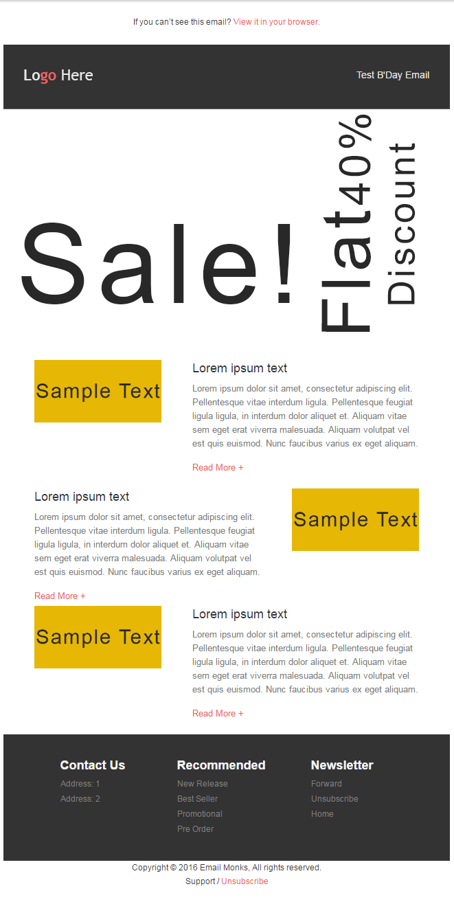 Email HTML Templates - Sale Announcement