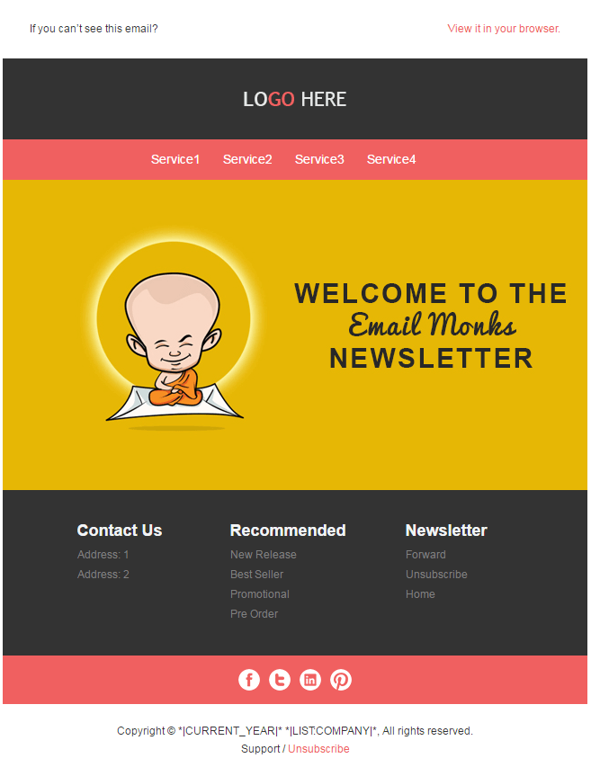 Email HTML Templates - Welcome