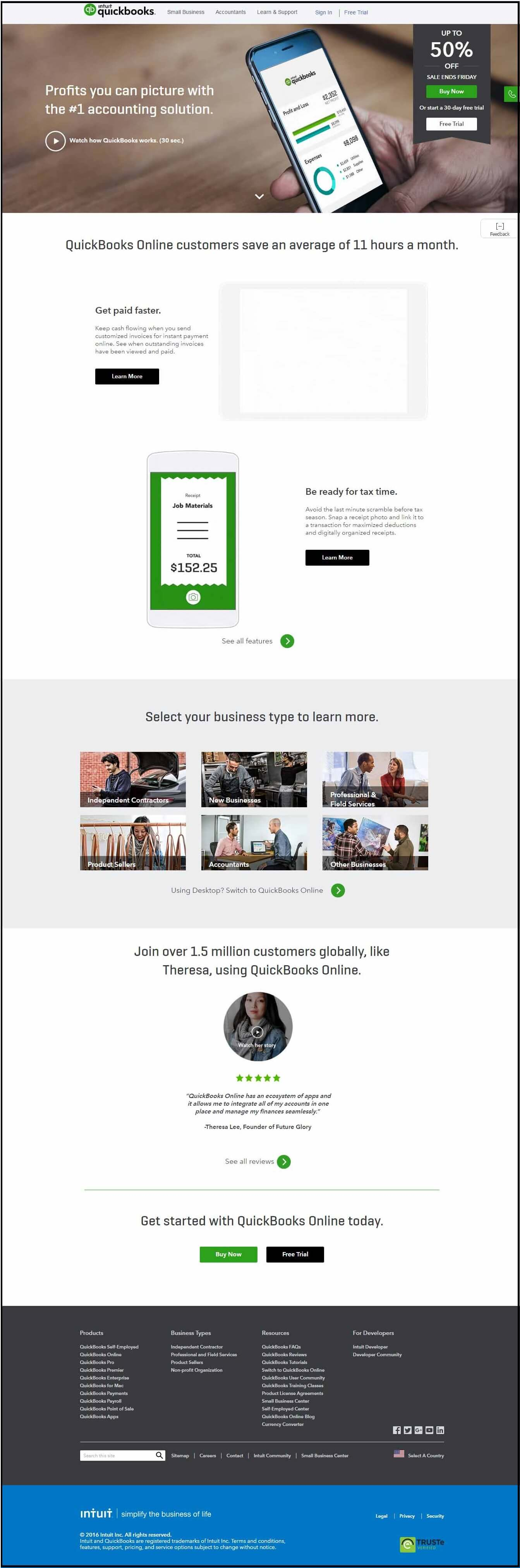 Intuit Landing Page Components