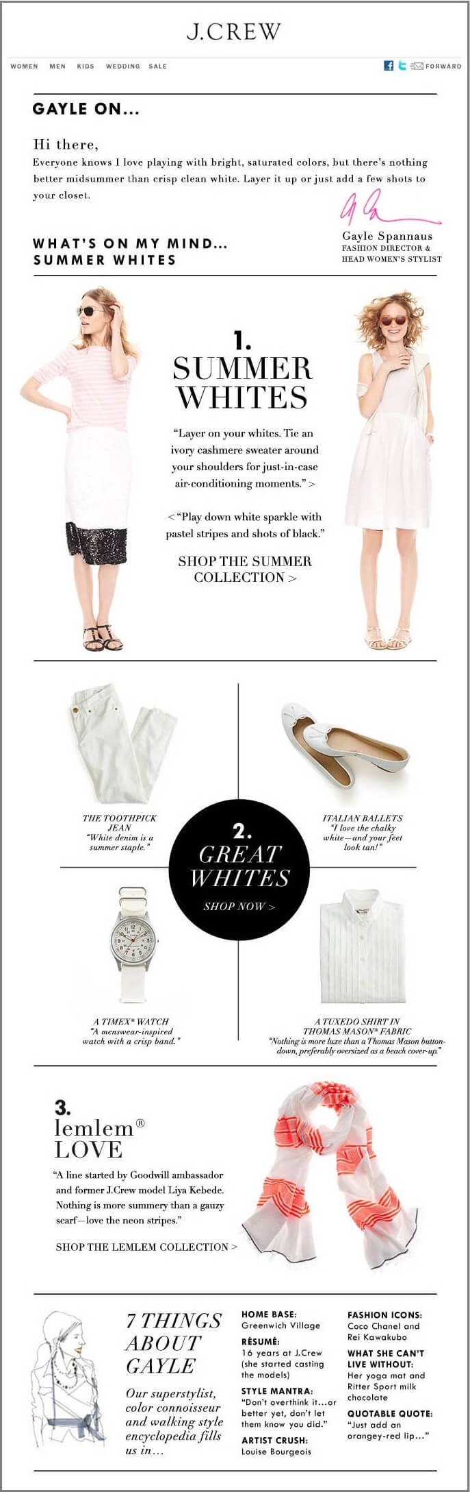 J-Crew-Female-email list segmentation