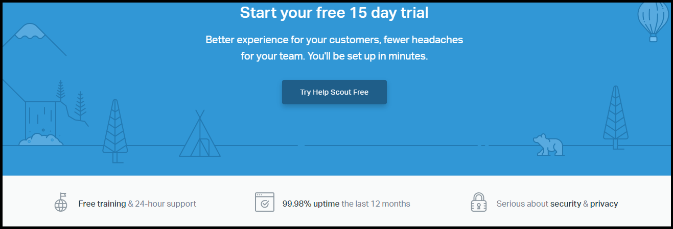 Landing Page Element HelpScout