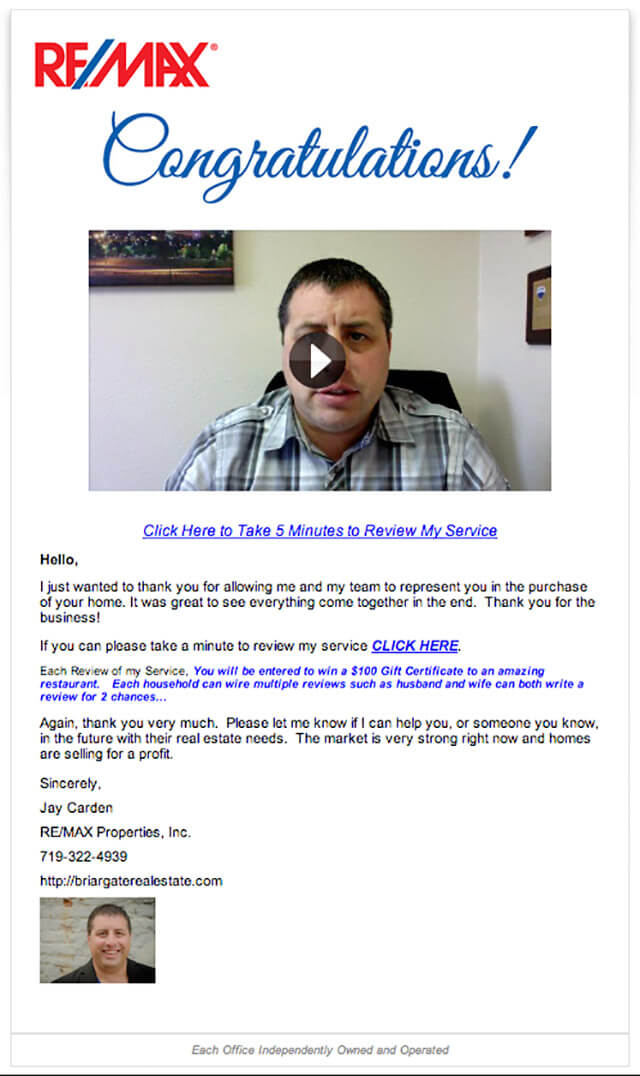 real estate email - Remax