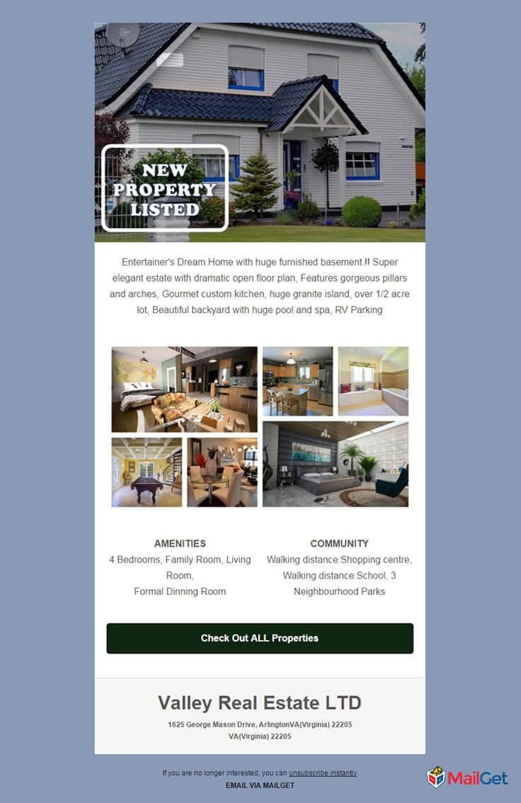 real estate email - Valley Real Estate LTD