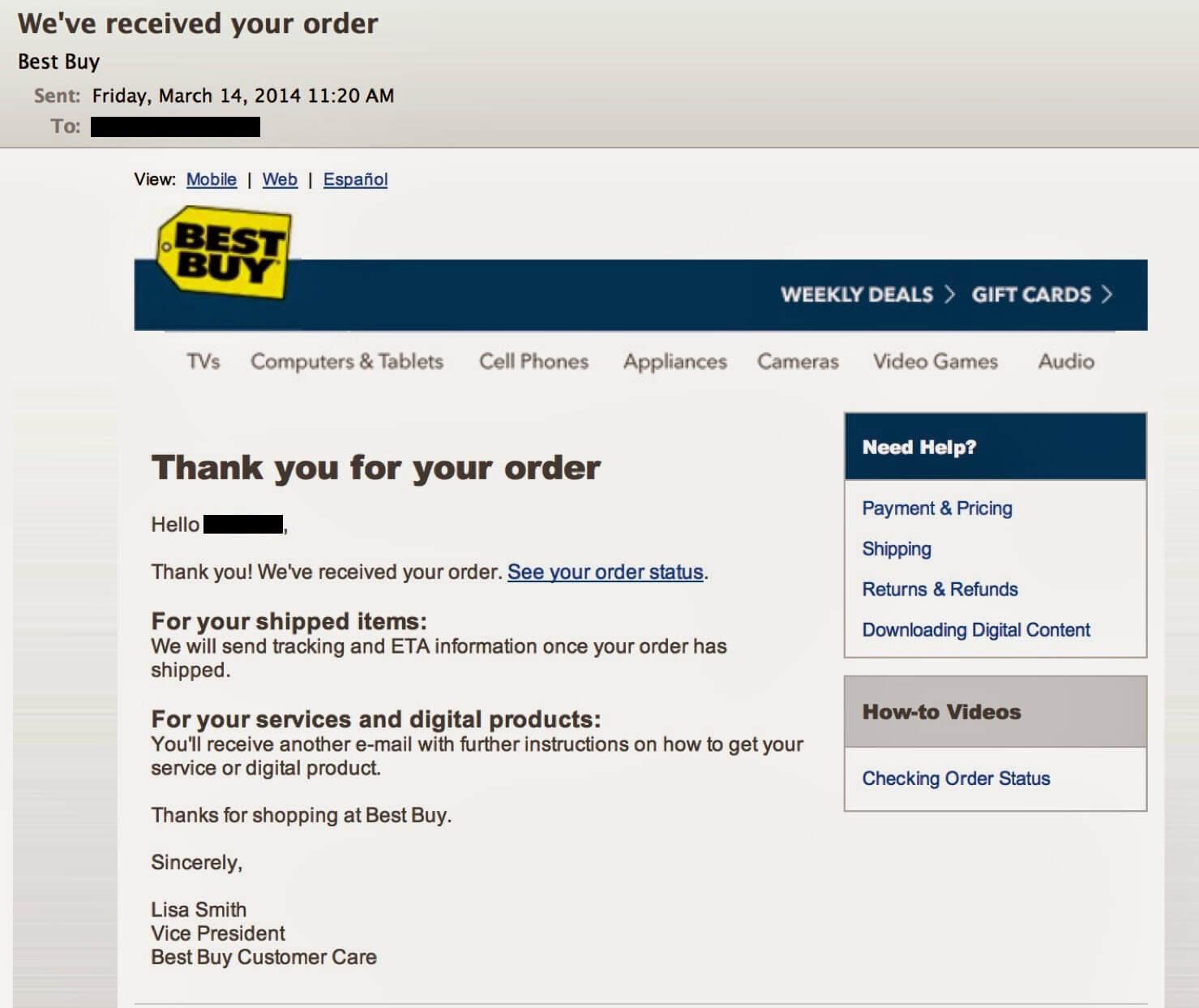 Best-Buy-order-email