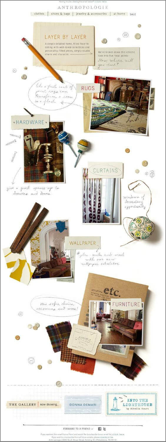 Email Typography-Anthropologie
