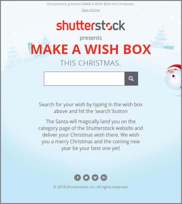 MAKE A WISH BOX - Search In Email