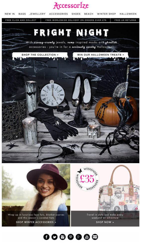 Halloween Email Accessorize