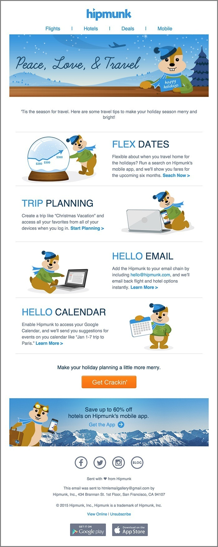 email template examples- Hipmunk