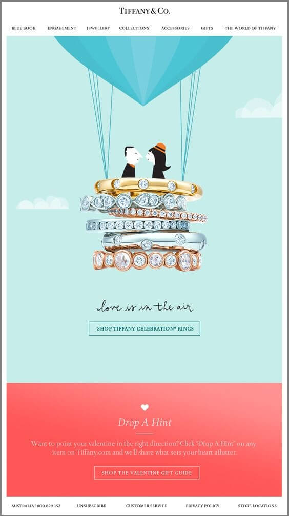 valentines day email template-Tiffany&co