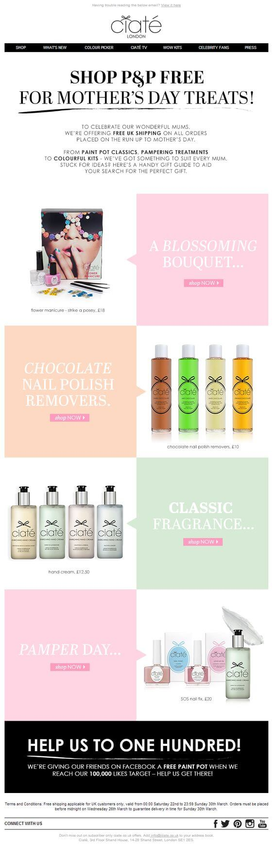 Ciate-mother's day email inspirations