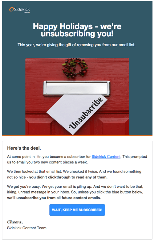 Email list cleaning example-Sidekick
