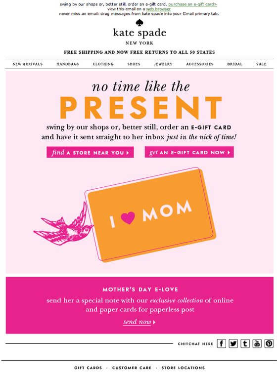 Kate-Spade-mother's day email inspirations