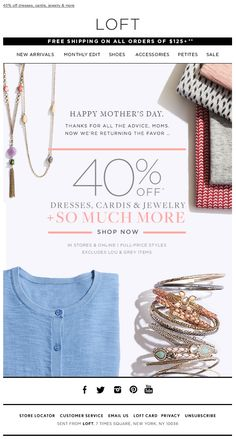 Loft-mother's day email template inspirations