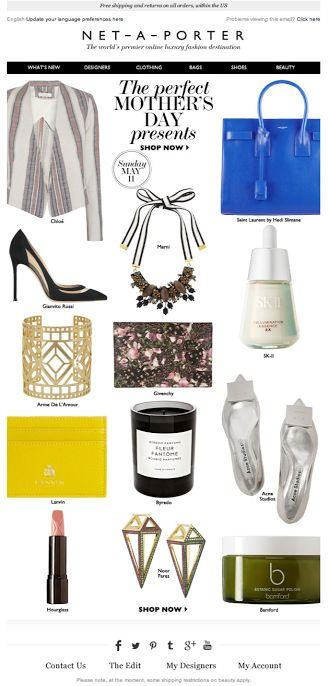 Net-A-Porter-mother's day email inspirations